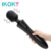 IKOKY Big Size Vibrator Sex Products Clitoris Stimulator AV Rod Sex Toys for Women Magic Wand G spot Massager Strong Vibration