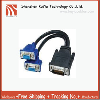 Hot 10pcs Lot Free Shipping Tracking Number 59Pin To 2 Dual VGA HD15 Female Splitter