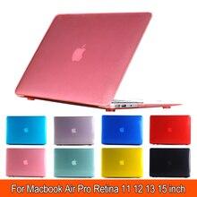 """Прозрачный матовый жесткий чехол для mac macbook air pro retina дисплей 1"""" 12"""" 1"""" 15"""" дюймов+ крышка клавиатуры"""