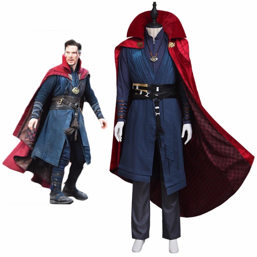 Cosplaydiy Adult Men's Costume Doctor Strange Stephen Vincent Strange Cosplay Outfit For Party