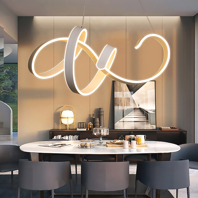 все цены на New Design White LED Pendant Light For Dining room Kitchen Living room Coffee room Lustres Modern LED Pendant Lamp Hang Ceiling