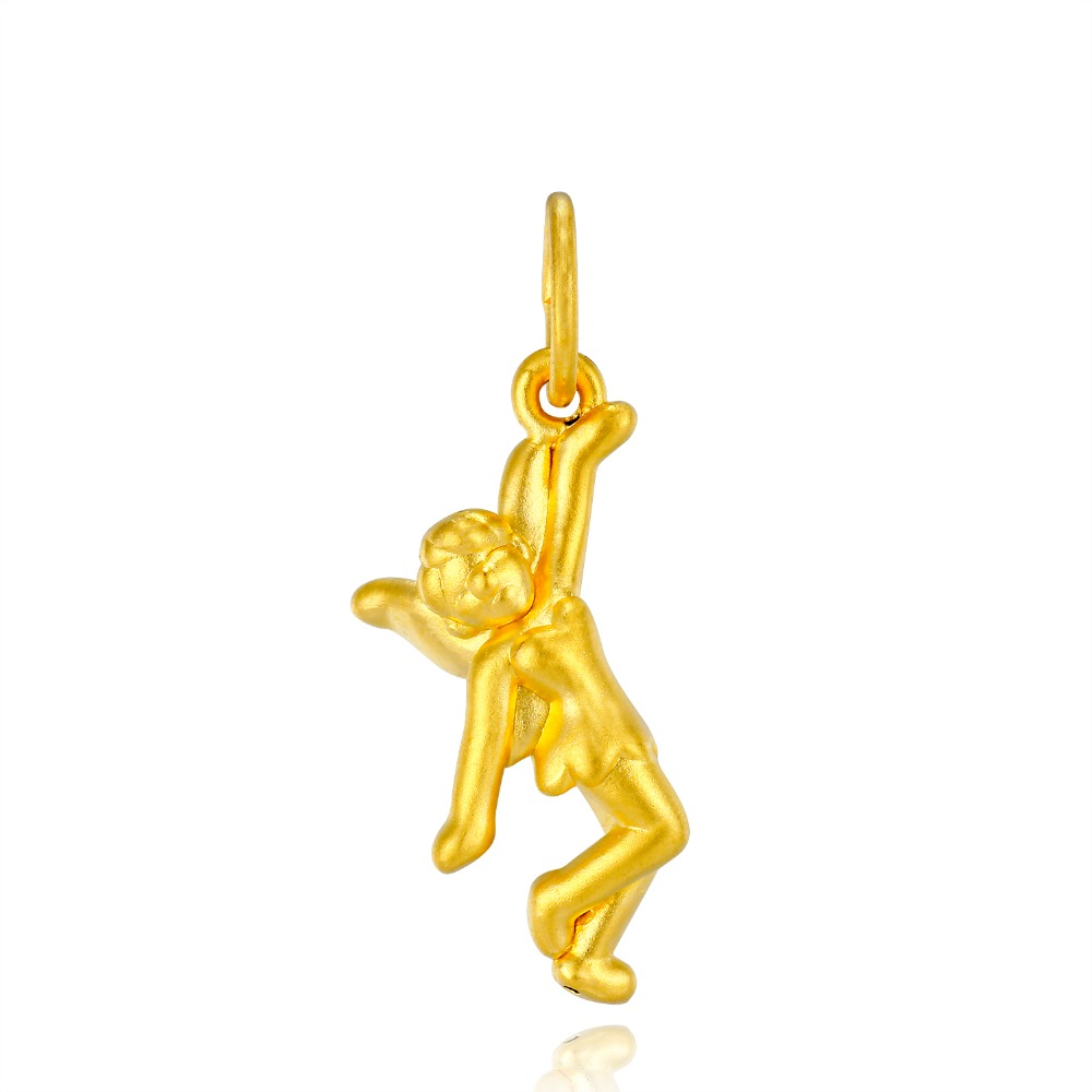 RINYIN 999 Gold Pendant Necklace 3D Hard Gold Pure 24K Yellow Gold Angel Charm DIY Bracelet корм для кошек animonda carny adult говядина курица конс 200г