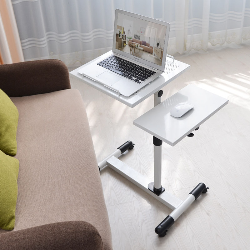Fashion Modern Simple Home Laptop Table Bed Learning Writing Desk Floor Stand Mobile Lift Laptop Table Beside Sofa Bed
