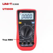 UNI-T UT890D Digital Tester Multimeter True RMS Manual Range AC DC Voltmeter Ammeter Ohm Herz F LCD Backlight Diagnostic-tool
