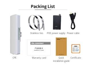 Image 4 - 2pcs COMFAST CF E313AC 5KM 900Mbps 5.8Ghz Outdoor Mini Wireless AP Bridge WIFI CPE Access Point 12dBi WI FI Antenna Nanostation