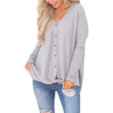 Casual Lace Up Bowknot Button Loose Tee Tops Black Ladies Knitted Sweaters Long Sleeve V-Neck Women Pullovers Female 3164 black v neck long sleeves loose plunge knitted sweaters