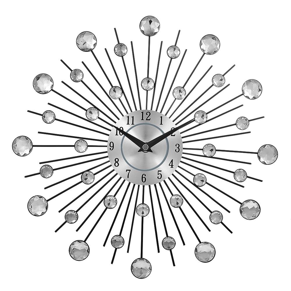 Permalink to Decorative Crystal Sunburst Metal Wall Clock Home Art Decor Diameter 13 Inch Original Vintage Metal Art Wall Clock Home Decor