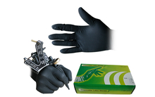 100PCS Soft Nitrile Tattoo Gloves Black Large Disposable Latex Available Accessories For