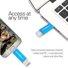 WANSENDA Usb Flash Drive 32GB Metal Pen Drive 16GB Flash Disk 64GB 128GB