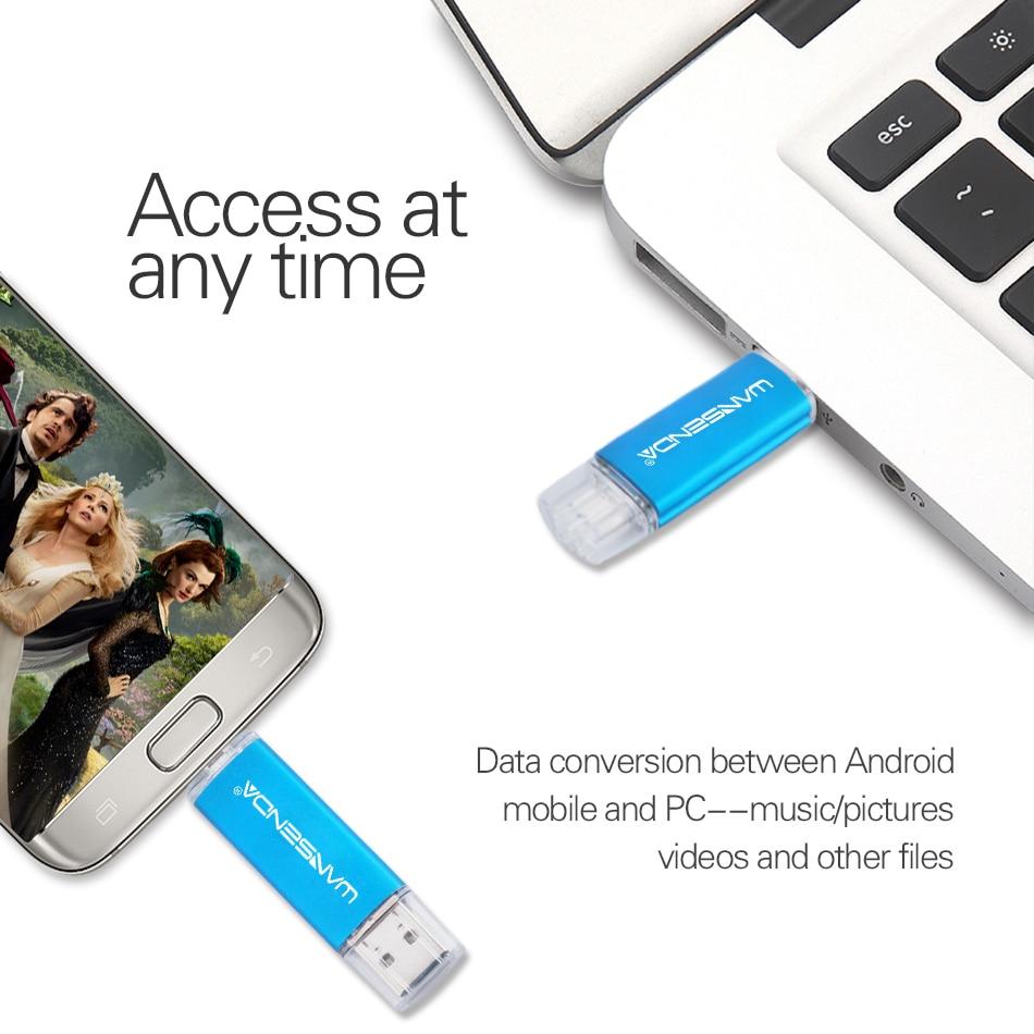 Image 5 - WANSENDA Высокоскоростной Usb 3,0 OTG USB флэш накопитель 32 Гб металлический флеш накопитель 128 Гб флэш диск 16 Гб 64 Гб Флешка двойное использование Usb флешка-in USB флэш-накопители from Компьютер и офис