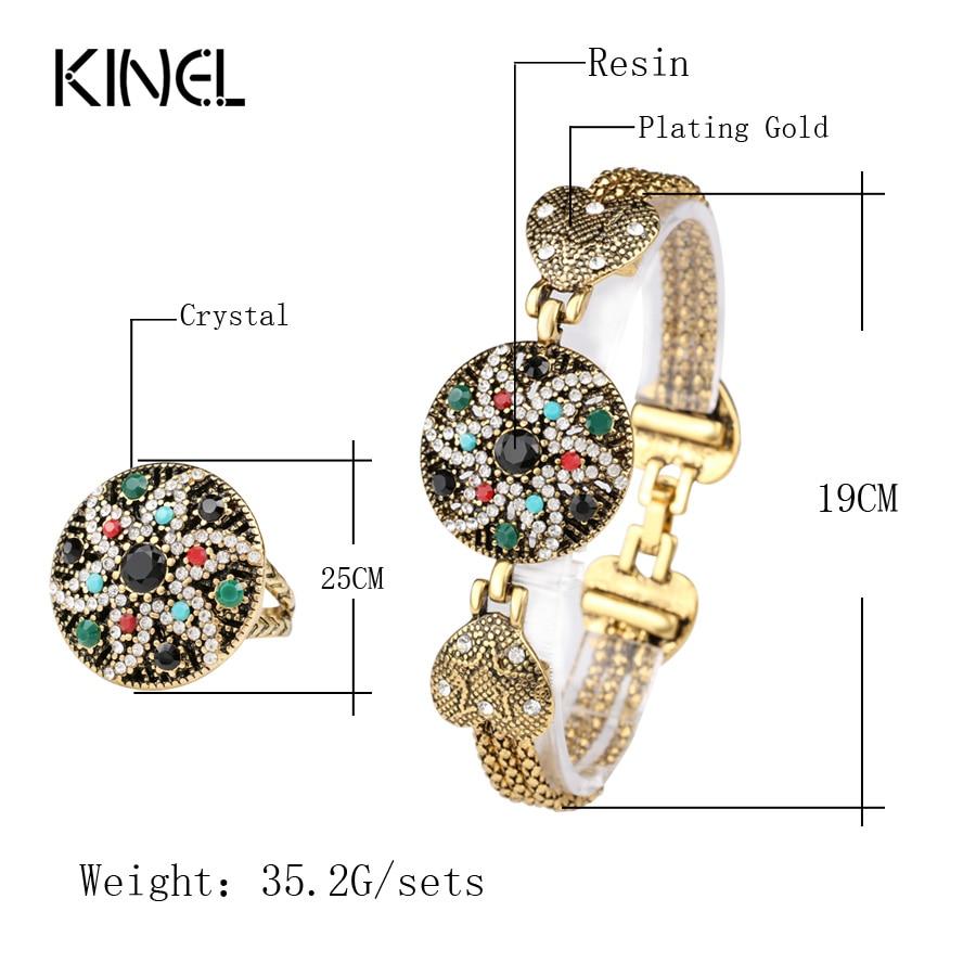Vintage Look Indian Starfish Armbånd Ring For Kvinder Hvid Krystall - Mode smykker - Foto 2