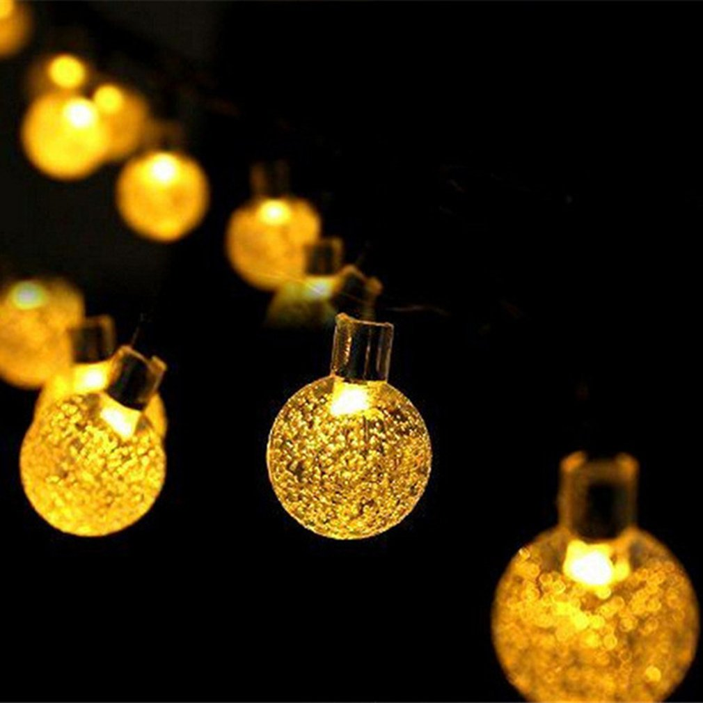 Solar Powered LED String Light Bubble Ball Multicolor Christmas Wedding Festival Outdoor Party Decoration For Home Garden Lawn