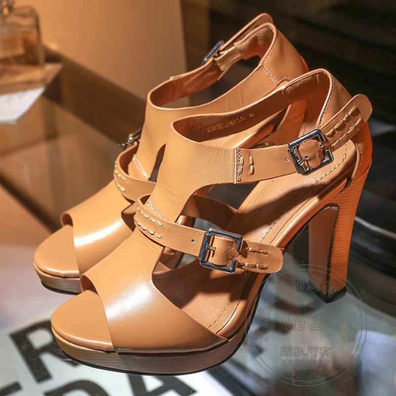 Square Heel Hasp Plateau 2015 Female Plateau Simple font b Women b font High Heel Shoes