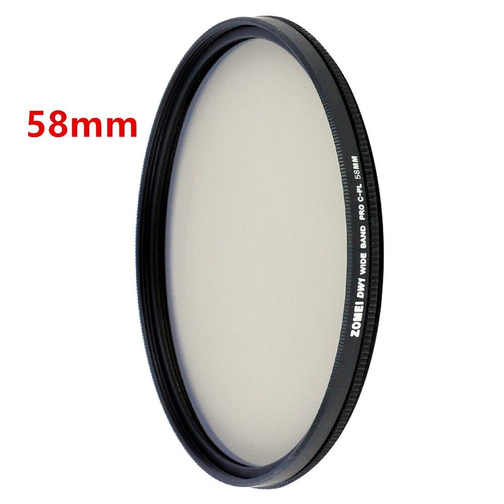 Zomei HD High Definition CPL Circular Polarizer Polarizing Filter for DSLR Camera Lens 49mm 52mm 58mm 62mm 67mm 77mm 82mm 6