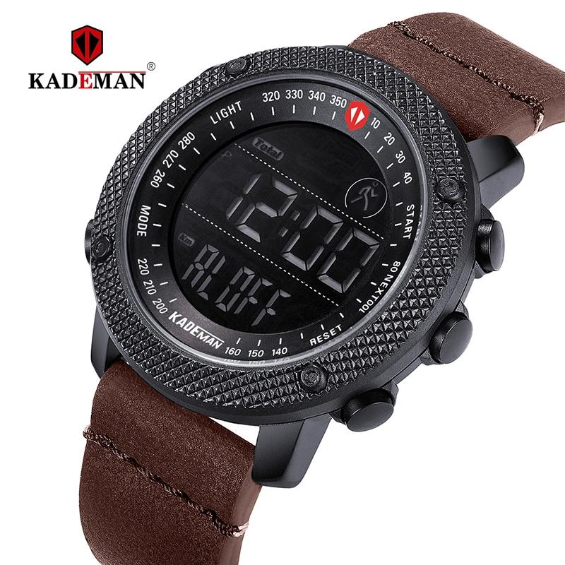 69a6f33d630d KADEMAN 2019 deportivo de lujo relojes de pasos LED Digital Reloj 3ATM de  diseñador de moda