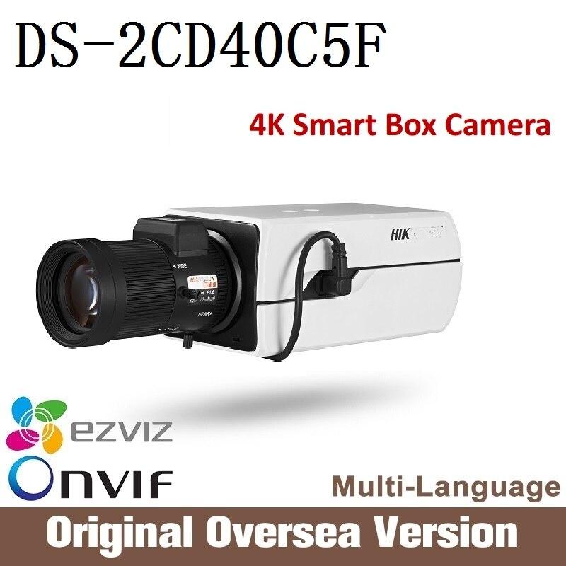 HIK  English version 12mp ip camera DS-2CD40C5F PoE 4K Smart IP Box Camera Full HD resolution ONVIF Smart CCTV security 40 cd