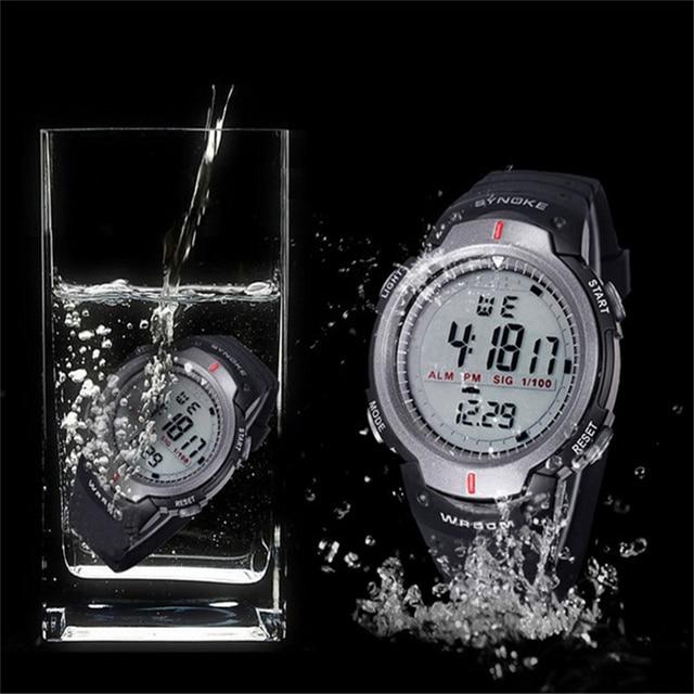צבאי שעוני יד ספורט גברים LED אלקטרוני שעון אופנה דיגיטלי יד שעונים Mens חיצוני חיים עמיד למים שעון מכירה לוהטת