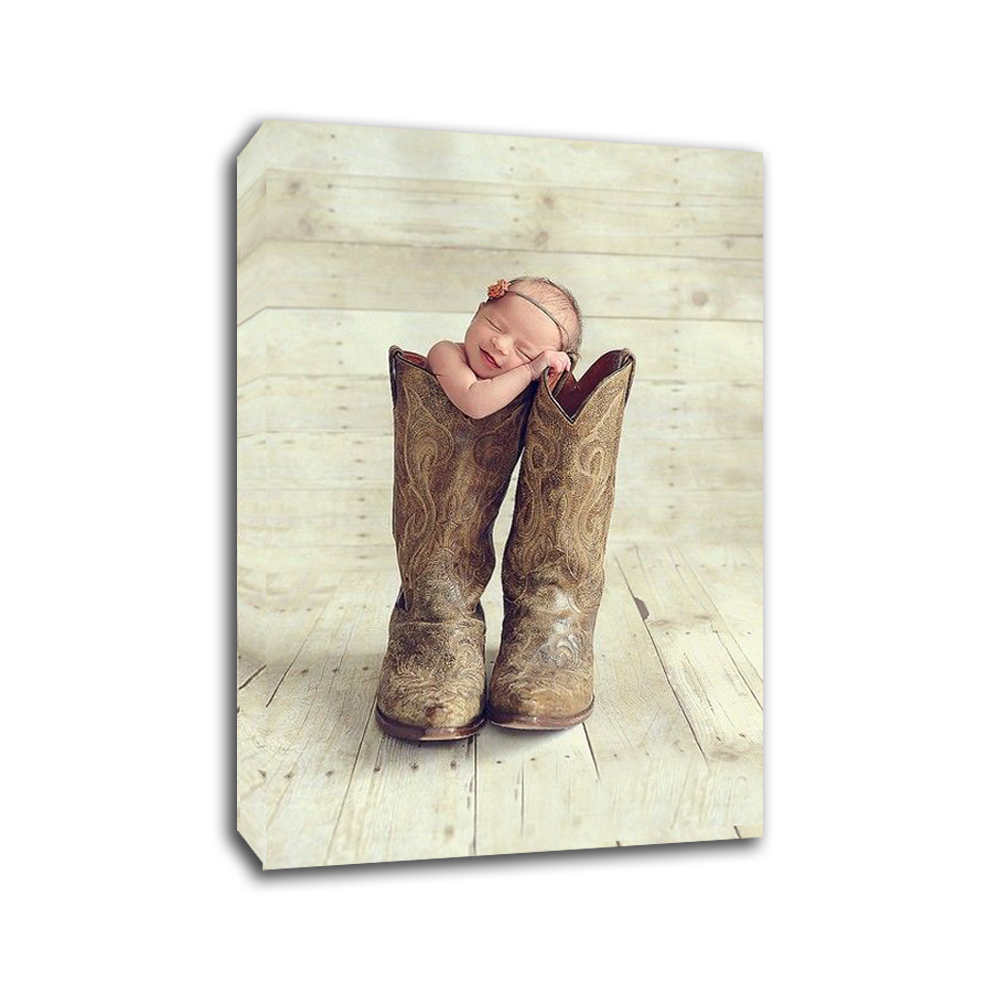 Cute Baby Custom Photo Memories to Canvas Art For Home Decoration Wall Art in Painting Calligraphy from Home Garden