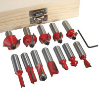 Newest 12Pcs 1 2 Inch 12 7MM Professional Router Bit Cutter Set Shank Tungsten Carbide Woodworking