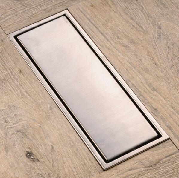 30cmx11cm Modern Brass Grille shape Bathroom Floor Waste