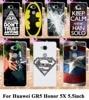 Soft TPU Hard plastic Cases For Huawei GR5 Honor5X Honor Play 5X Mate 7 Mini 5.5 inch superman logo batman captain american Case