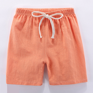 Image 5 - Kids Shorts Summer Baby Boys Girls Beach Short Candy Color Toddler Cotton Linen Loose Shorts Casual Pants Clothing For 3 9Yrs