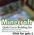 New arrive Children 3D Bedding Set Minecraft Bedding Steve Kids Bed Set Twin Queen King Size