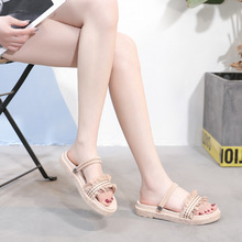 Womens fashion 2019 new summer Rome wind flat Korean version of the large size shoes women