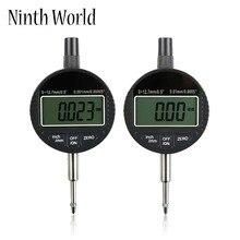 """0-12,7 мм/0,"""" 0-25,4 мм/1"""" измеритель диапазона цифровой циферблат индикатор прецизионный инструмент 0,01 мм/0,000"""" 0,0001 мм/0,00005"""" тестер инструменты"""