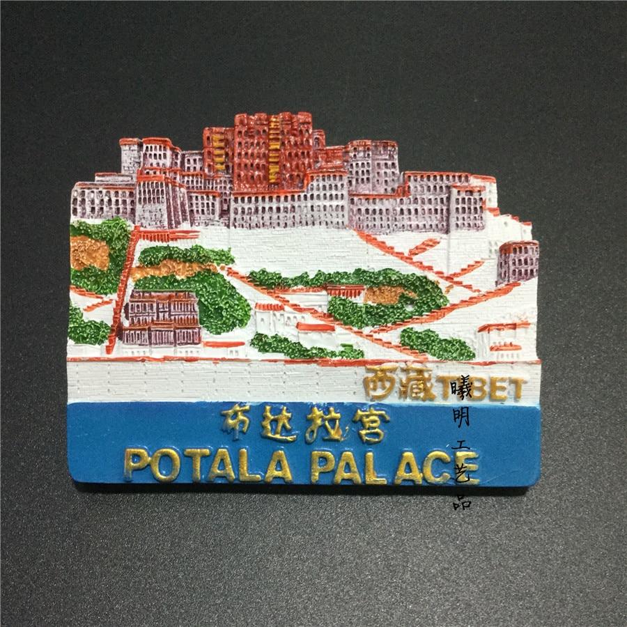 3D Resin Tibet Potala Palace Fridge Magnet Sticker Refrigerator Magnet Kitchen