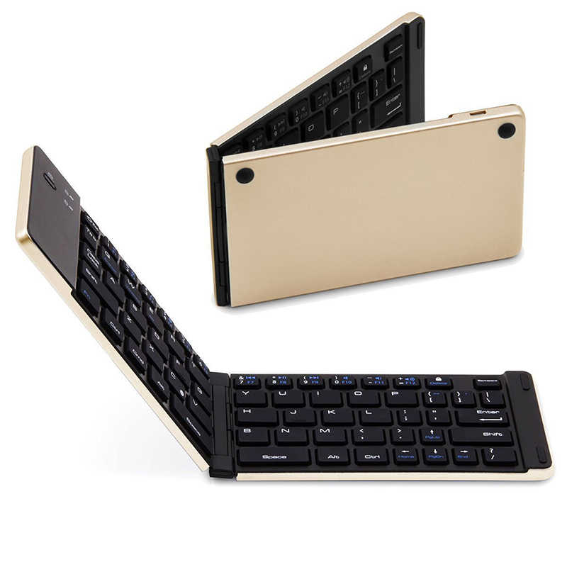 Asometech BT 3,0 inalámbrico plegable Tablet teclado para IOS Android teléfono de Windows Tablet Ipad teclado Bluetooth portátil Touchpad