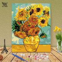 Frameless Painting Coloring By Numbers Diy Digital Pictures Decoration Flower Canvas Poster Modular Picture Painting By Numbers