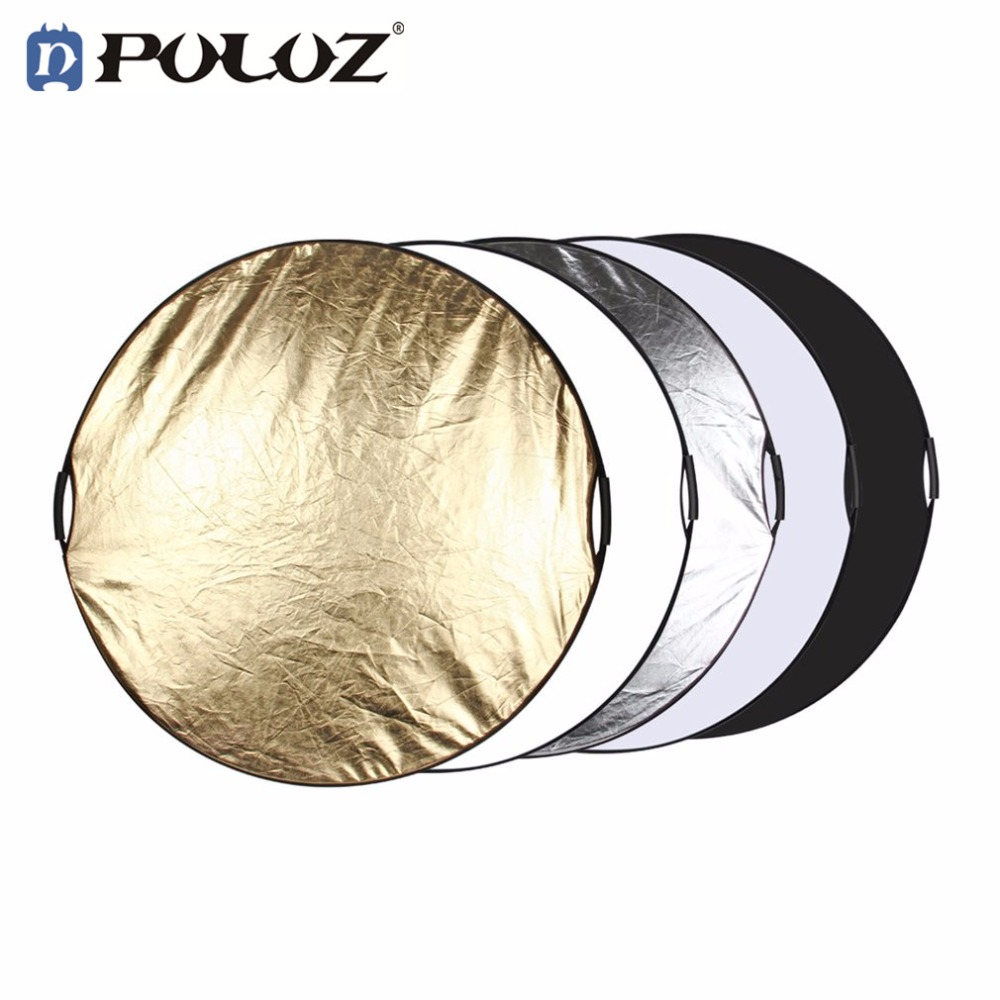PULUZ Photo Reflector 110cm 5 in 1 Multiple Color Portable Package Collapsible Photo Studio Reflector Folding Board