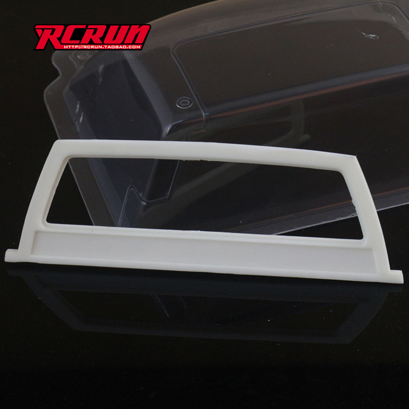 RCRUN small rear window cover for 1:10 model car hilux Tamiya mountain pig TF2-1 generation RC car parts toys(China)