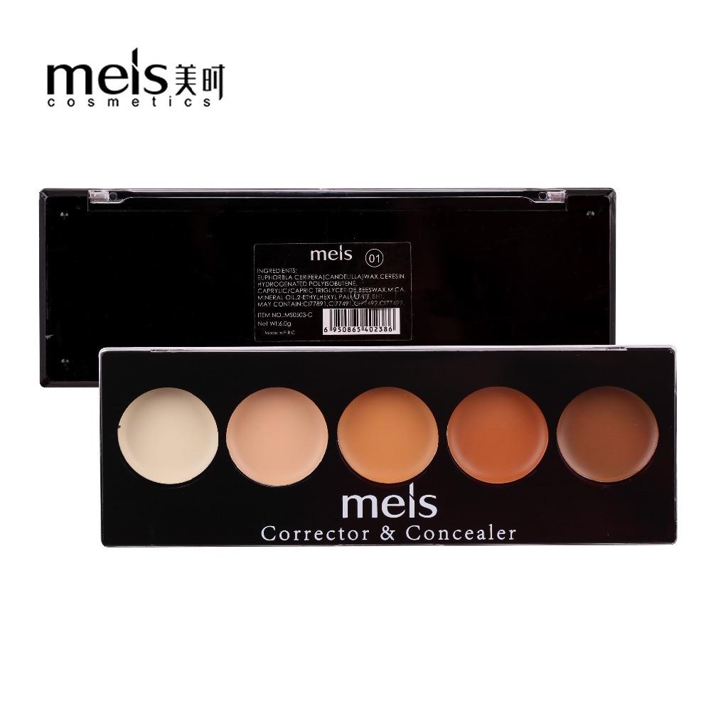 แต่งหน้าผง Contour Palette ผู้หญิง Contouring แต่งหน้าเครื่องสำอางการดูแลผิวหน้าครีมคอนซีลเลอร์ Palette MS0503-C MEIS