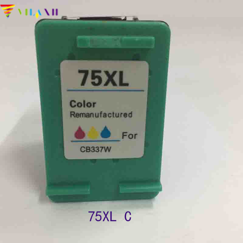 Vilaxh compatible Ink Cartridge Replacement for hp 75xl Photosmart C4480 C4580 C4200 C4280 C4380 Officejet J5780 J6480 Printer in Ink Cartridges from Computer Office