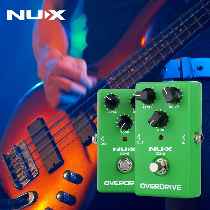все цены на NUX OD-3 Electric Guitar Effect Pedal Ture Bypass Overdrive Effect Guitar Pedal High Quality guitarra parts&Accessories онлайн