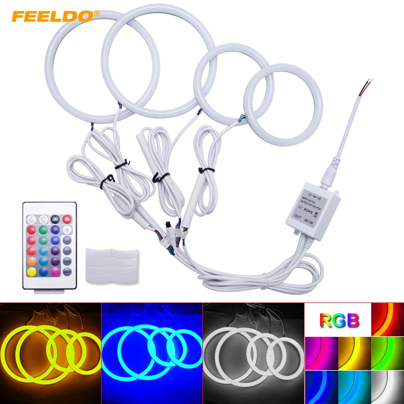 FEELDO 1Set Auto Halo Rings Cotton Lights SMD LED Angel Eyes for Volkswagen Golf 4 DRL