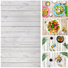 ALLOYSEED 60x90cm Wood Board Photography Background Backdrops Cloth Desk Table Photo Studio Phone Photographic Props For Food(China)