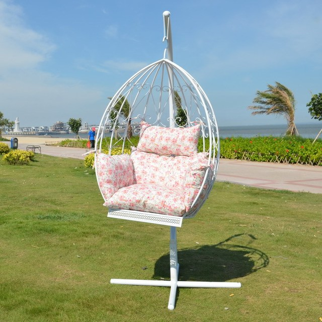 Wrought iron chairs rocking cradle swing nest indoor and