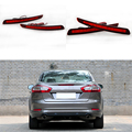 2 Pcs Tail Red Rear Bumper Light LED ReflectorStop Brake Fog Lamp For Mondeo Fusion 4 2011 2012 2013