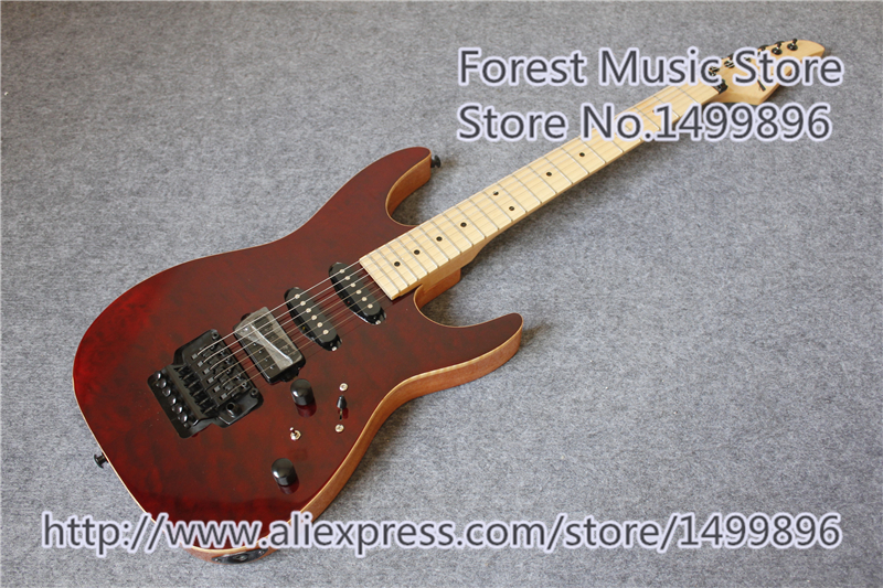 Hot Selling Quilted Finish Tom Anderson S Family Guitar With Solid Mahogany Guitar Body Free Shipping