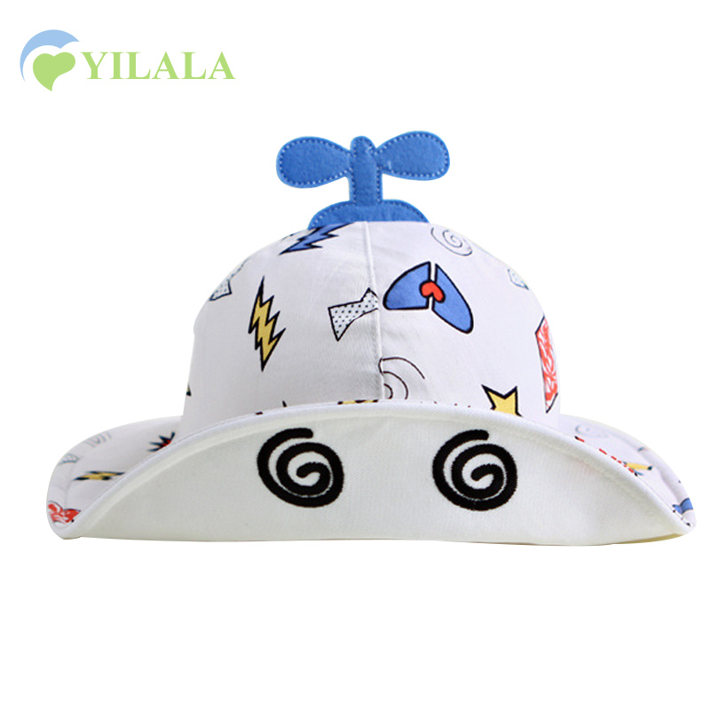 Cartoon baby hoed vliegtuig Baby Panama hoed jongens meisjes zomerzon - Babykleding