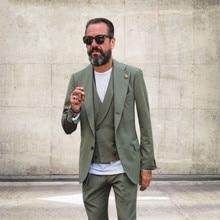 Three business men's suits custom business is sleek casual style design wedding new lang swallowtail dress Terno Masuclino