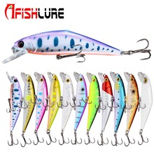 Minnow Hard Bait 85mm/15g Fishing Lures Sinking with Trebke Hooks Swimbait Lure for Carp D Contact