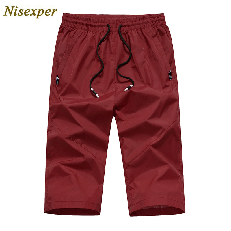 Nisexper Summer Casual Shorts Men Thin Quick Drying Beach Mens Shorts Solid Fashion Men Clothes 2018 Plus Size Short Homme