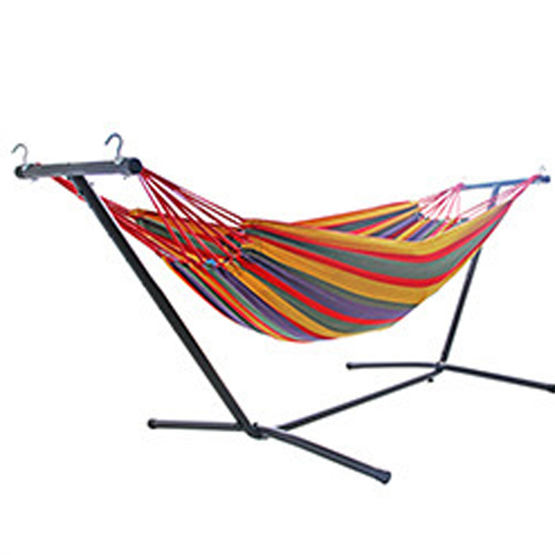 Newest Double Head Hammock With Detachable Bracket Rollover Prevention Balcony Park Hanging Chiar 2*1.5m Child Swing Bed
