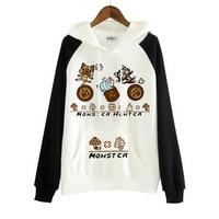 Monster Hunter Cat Airou Cosplay Costume Kawaii Cat Hoodie Sweat Cute Sweatershirt New For Halloween