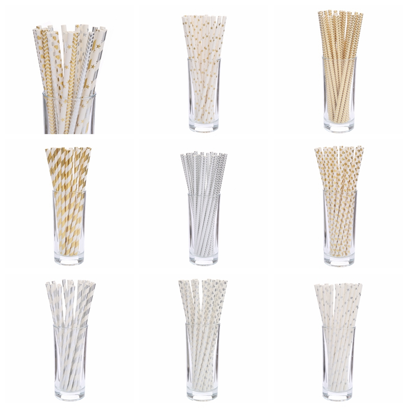 25pcs Drinking Paper Straws Gold Silver Straw Its A Boy Girl Pink Blue Baby Shower Decoration Gift Party Event Supplies|Disposable Party Tableware|   - AliExpress