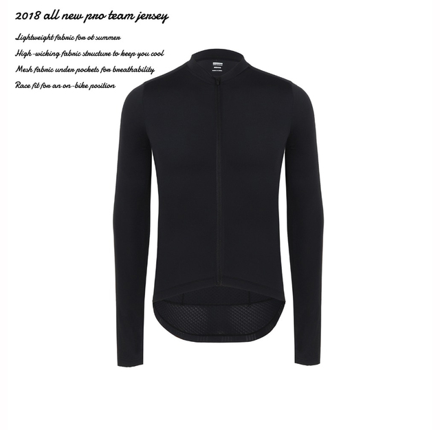 SPEXCEL 2018 all black New Italy fabric Pro Team Long Sleeve Cycling  jerseys tranning bicycle race fit cycling clothes in stock d5acad54f